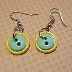 Yellow and turquoise buttons